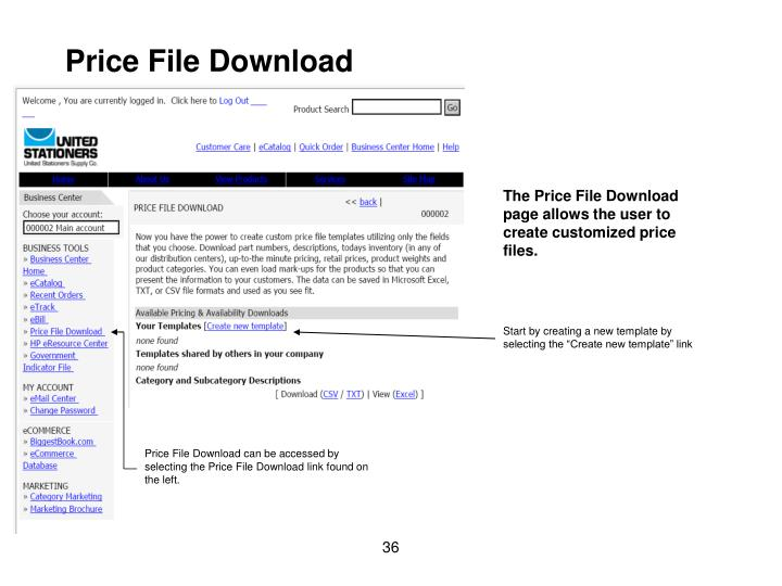 Price File Download