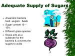 adequate supply of sugars