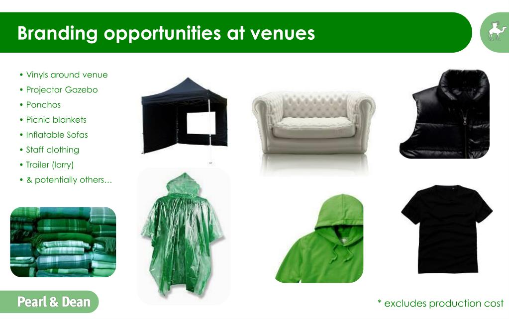 Branding opportunities at venues