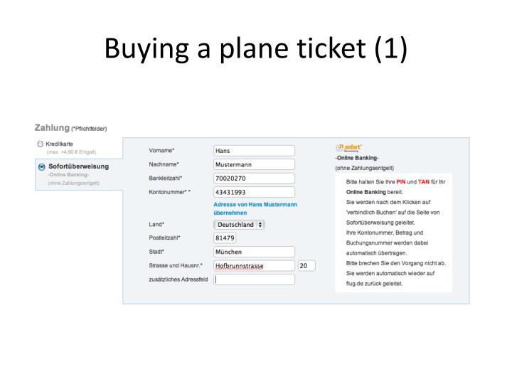 Buying a plane ticket 1