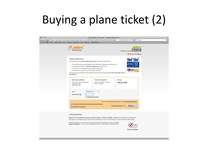 Buying a plane ticket (2)