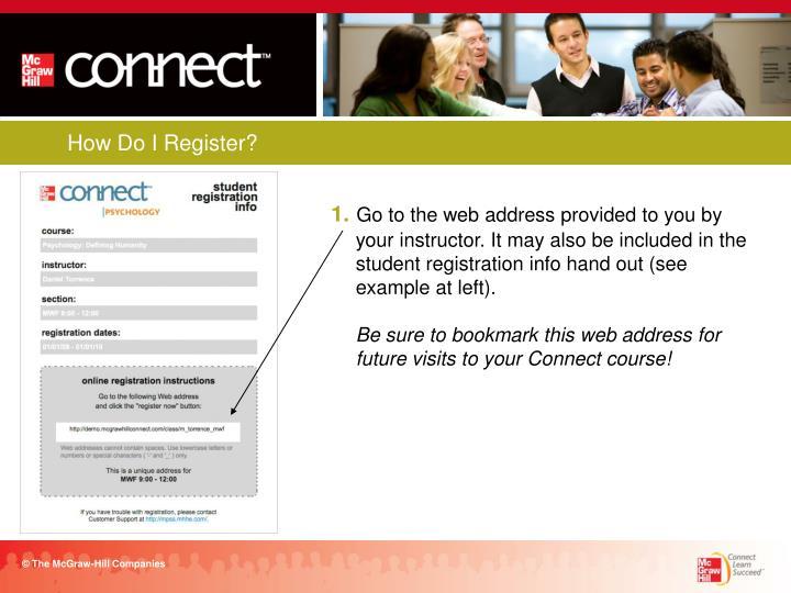 How Do I Register?