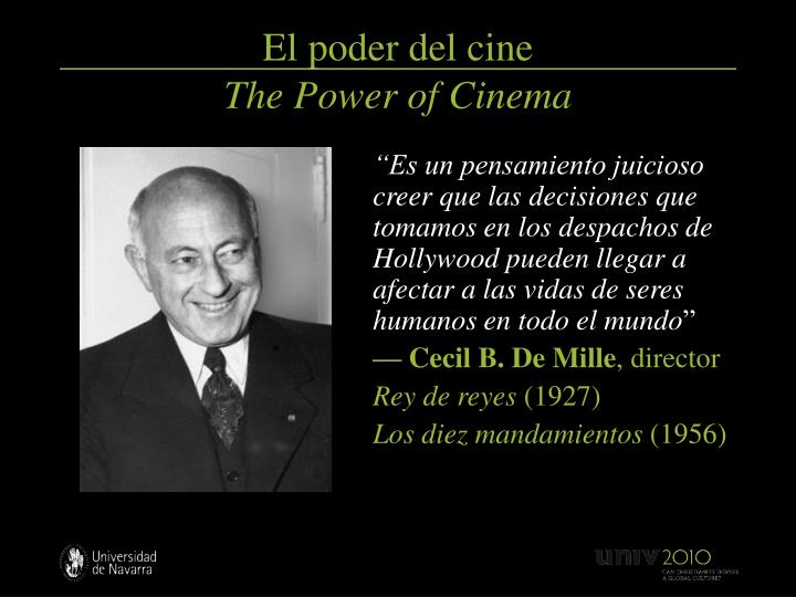 El poder del cine the power of cinema