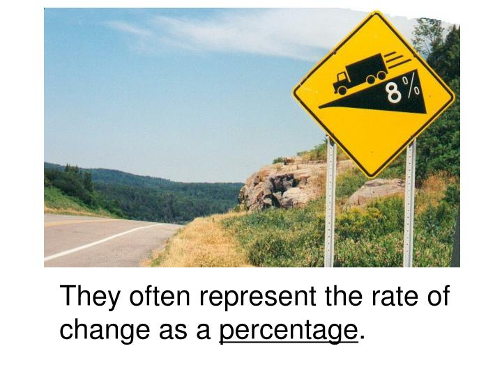 They often represent the rate of change as a