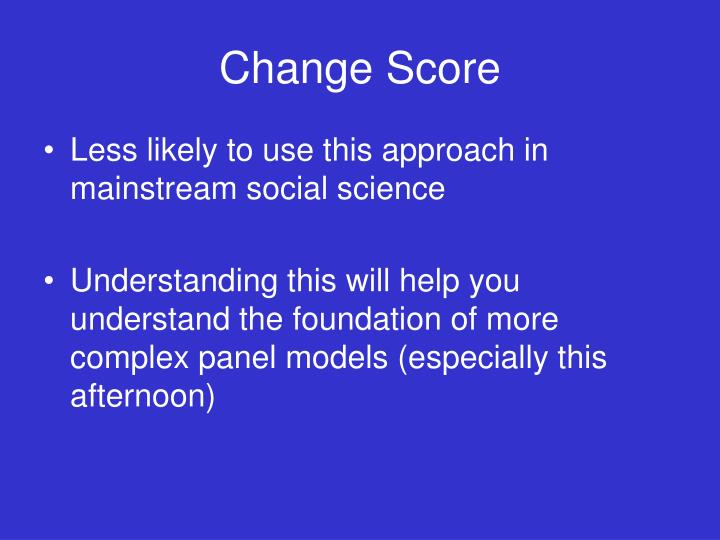 Change Score