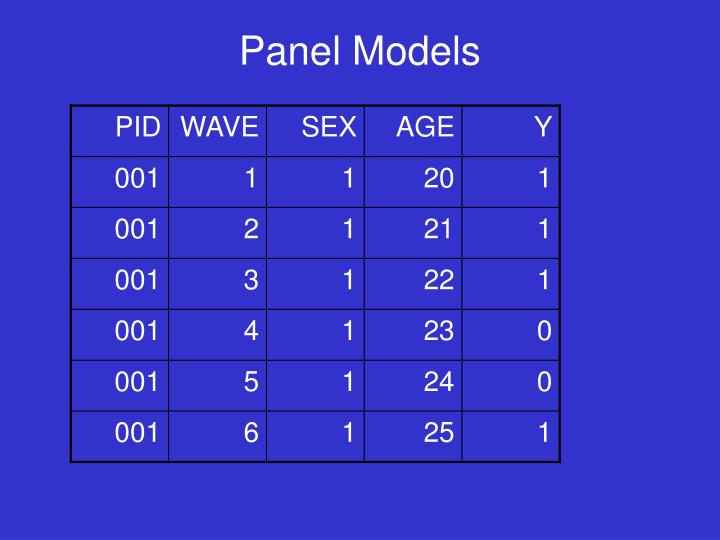 Panel Models