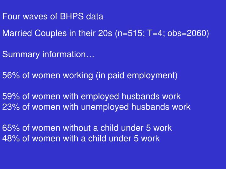 Four waves of BHPS data