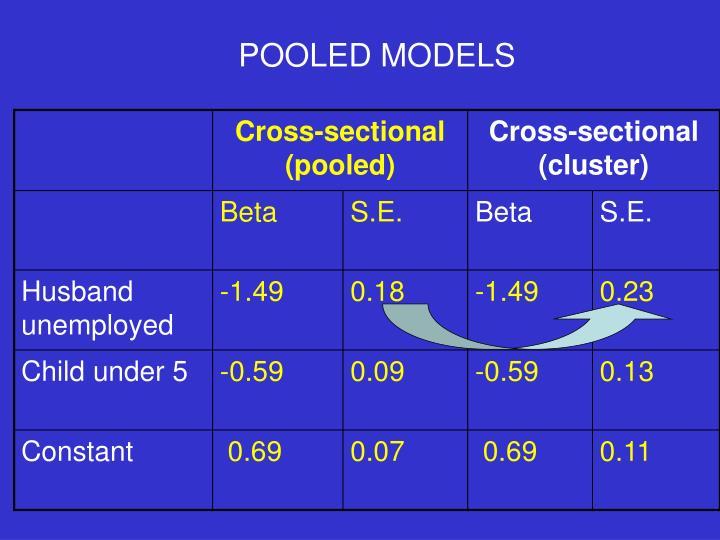 POOLED MODELS