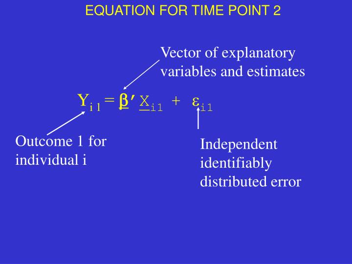 EQUATION FOR TIME POINT 2