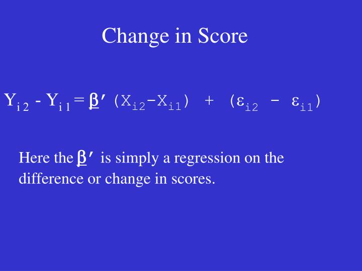 Change in Score