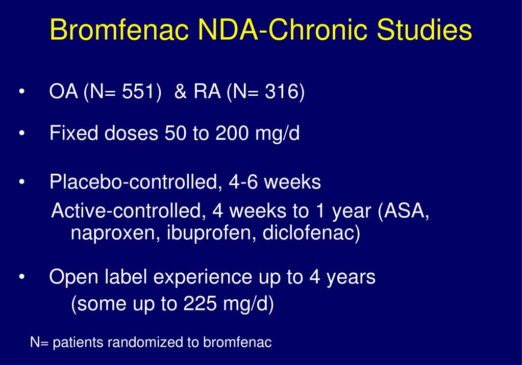 Bromfenac NDA-Chronic Studies