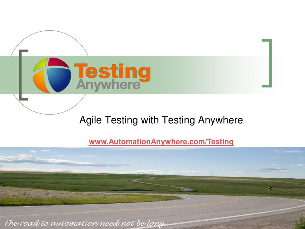 agile testing with testing anywhere l.