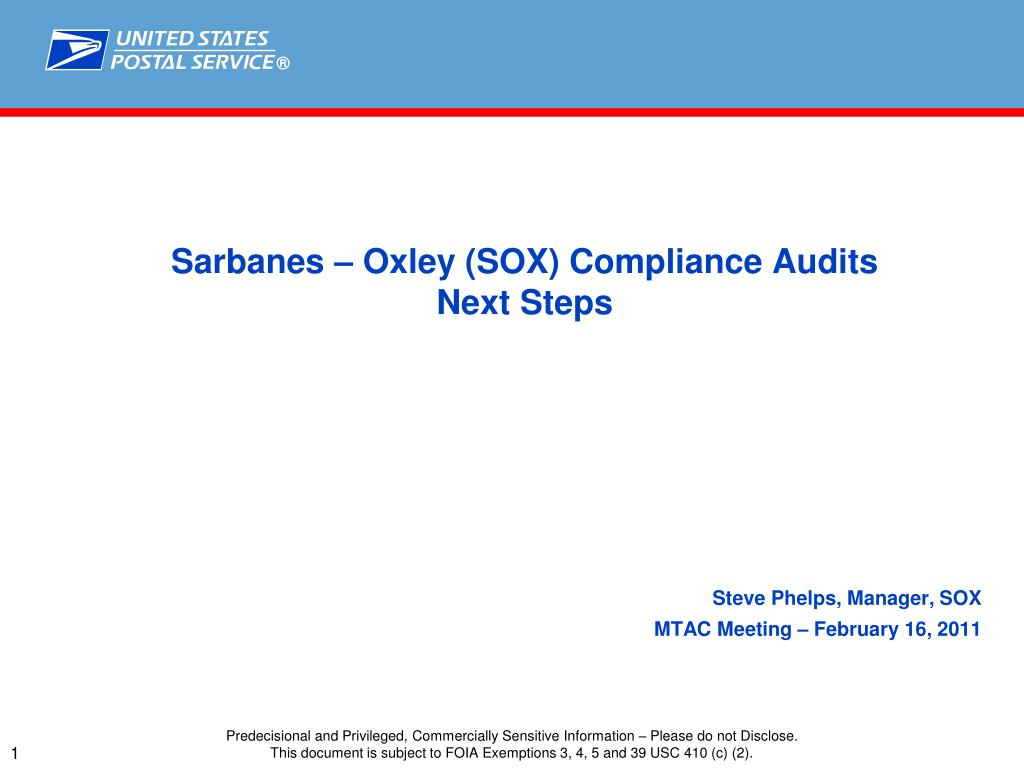 Ppt sarbanes oxley sox compliance audits next steps sarbanes oxley sox compliance audits next steps xflitez Images
