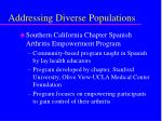 addressing diverse populations