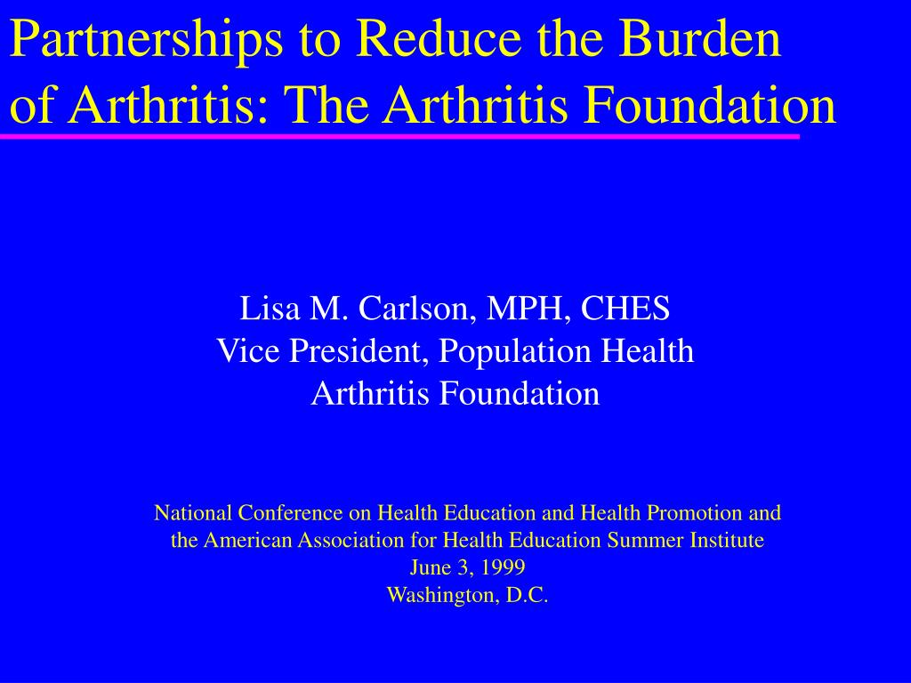 lisa m carlson mph ches vice president population health arthritis foundation l.