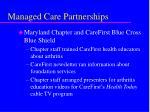 managed care partnerships14