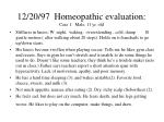 12 20 97 homeopathic evaluation case 1 male 11 yr old