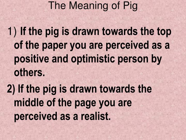 The Meaning of Pig