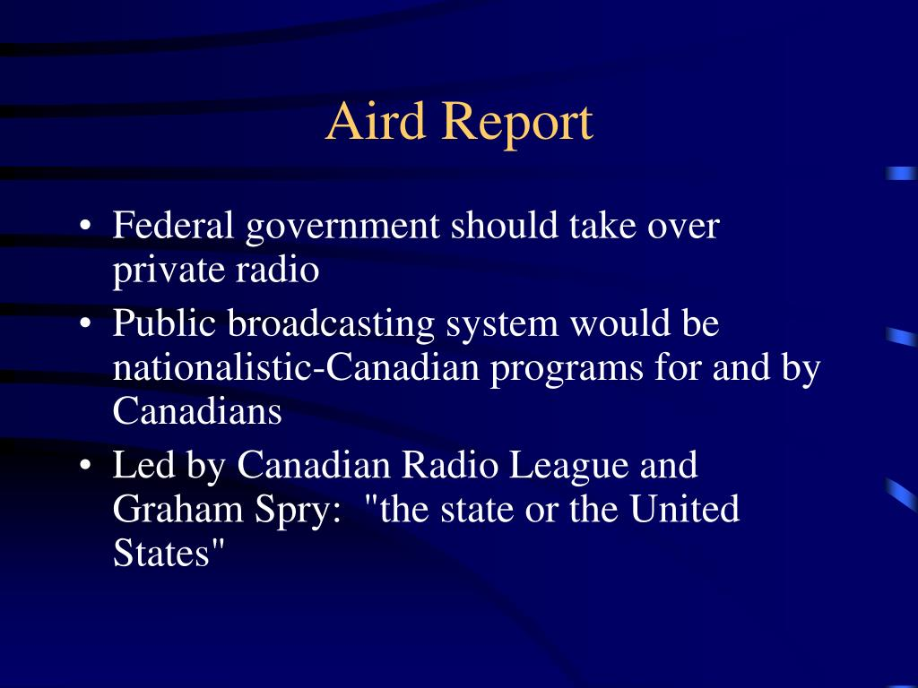 Aird Report