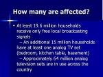 how many are affected