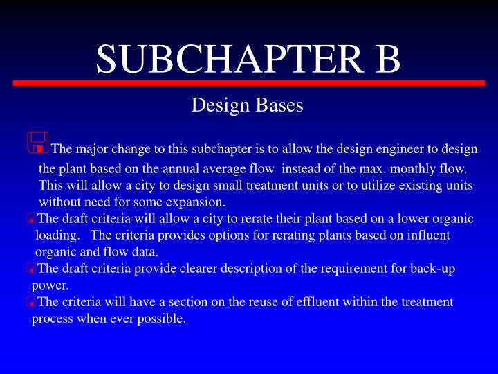 SUBCHAPTER B