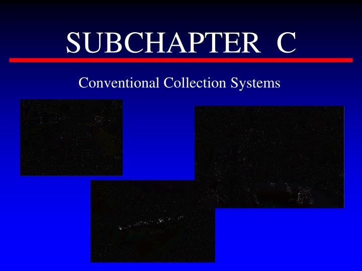 SUBCHAPTER  C