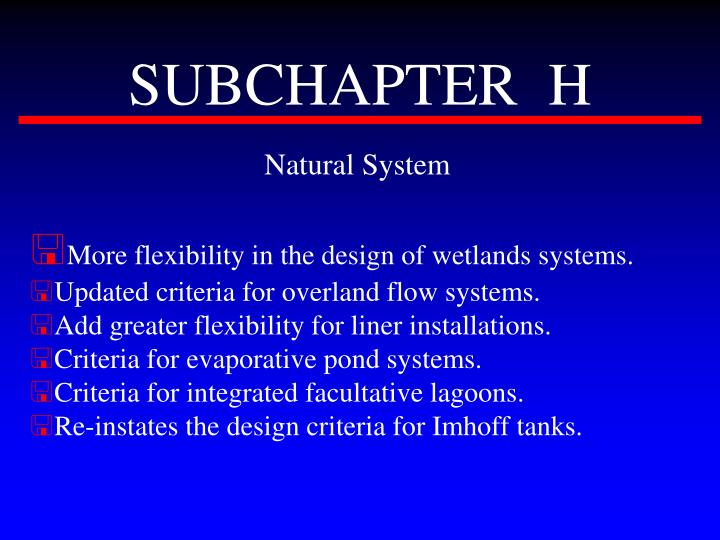 SUBCHAPTER  H