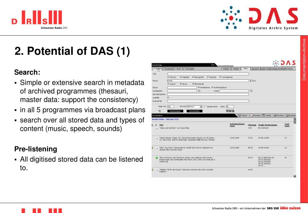 2. Potential of DAS (1)