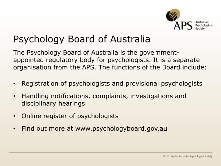 psychology board of australia provisional psychologist guidelines