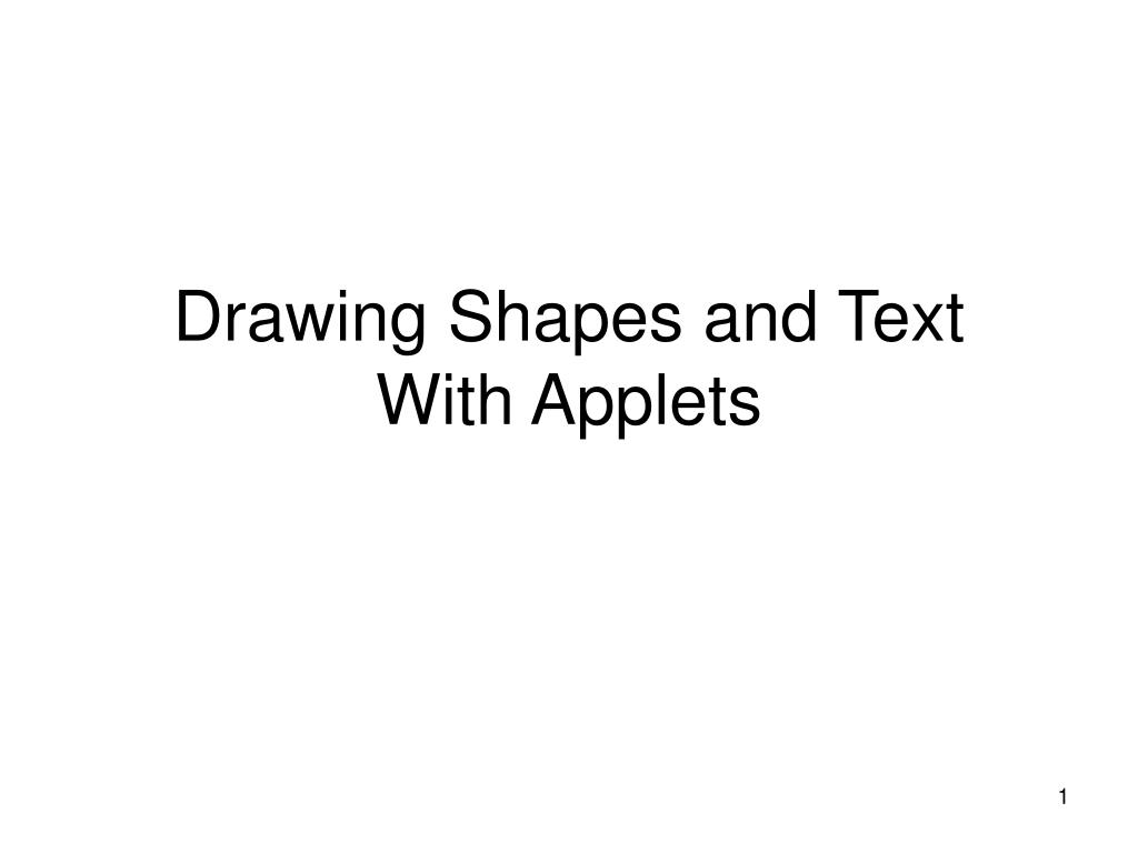 drawing shapes and text with applets