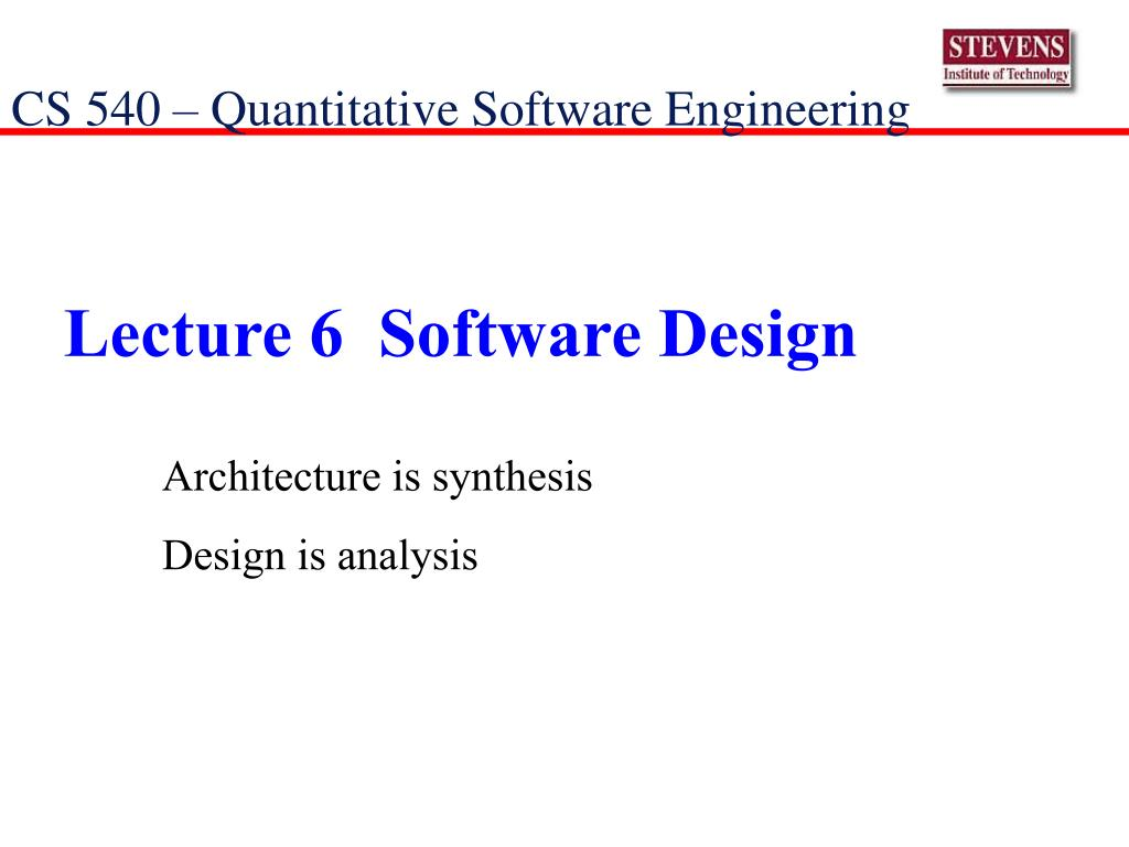 Ppt Lecture 6 Software Design Powerpoint Presentation Free Download Id 1114560