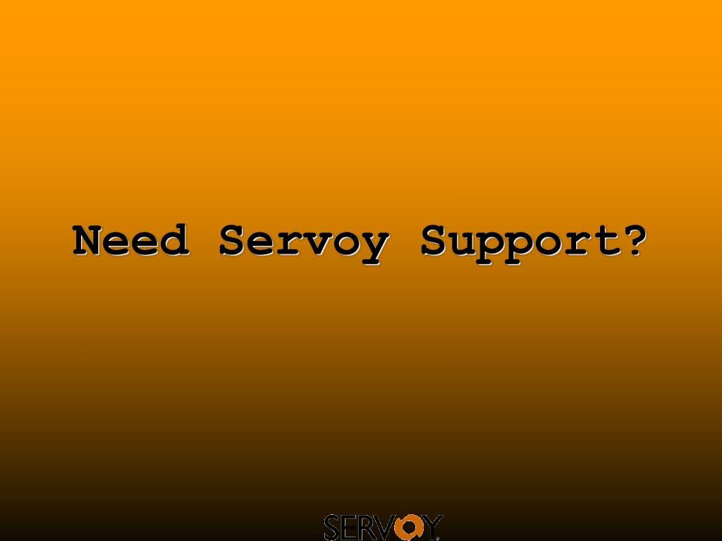 need servoy support l.