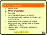 clinical features72