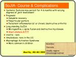sojia course complications