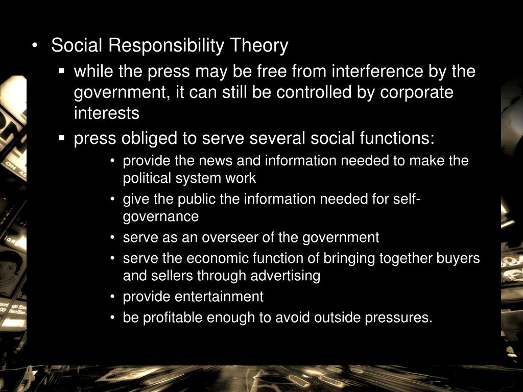 Social Responsibility Theory