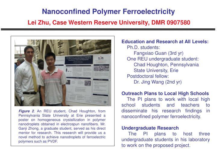 Nanoconfined polymer ferroelectricity lei zhu case western reserve university dmr 09075801