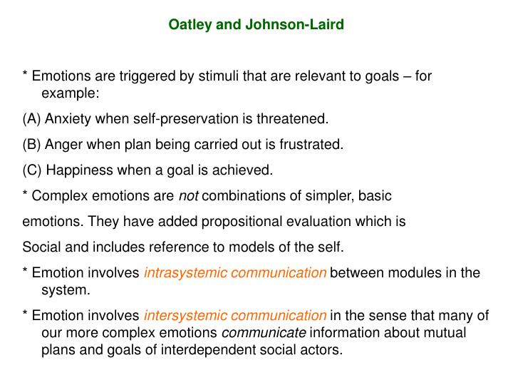 Oatley and Johnson-Laird