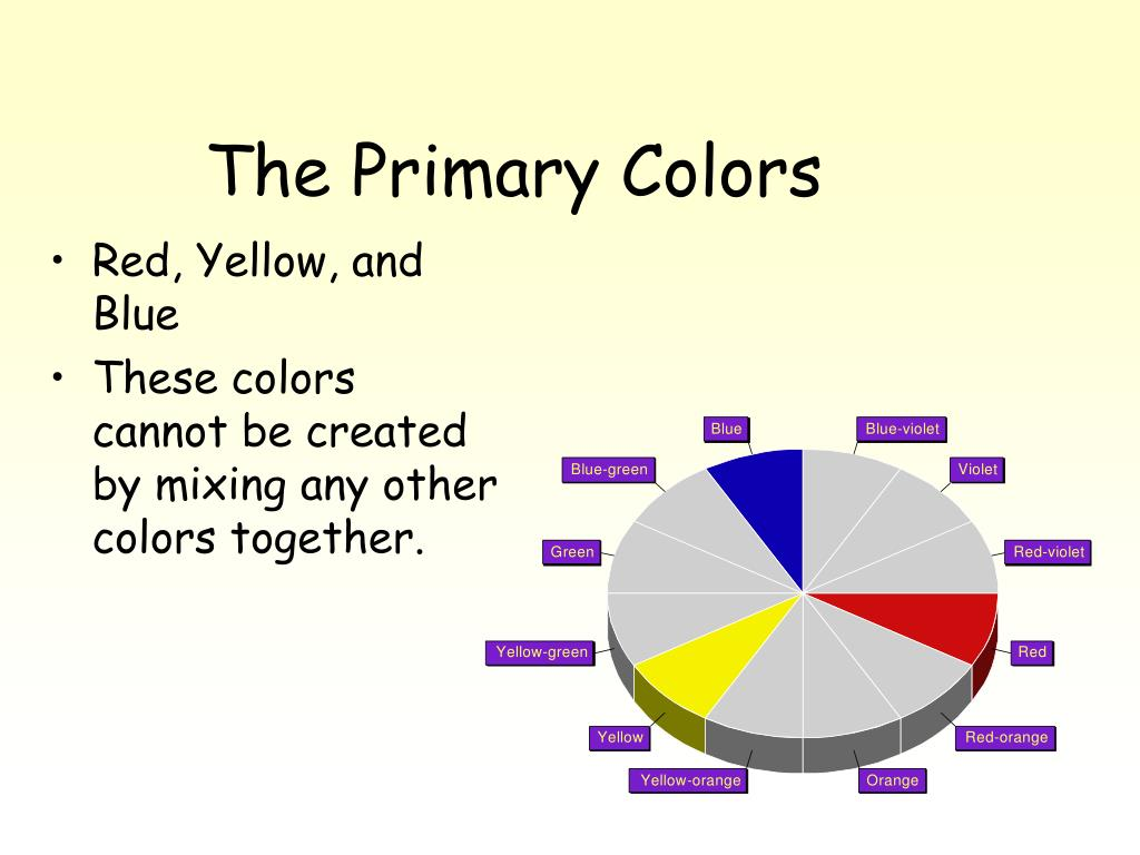 The Primary Colors