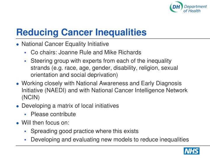 Reducing Cancer Inequalities