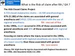 what is the risk of claim after ra ga