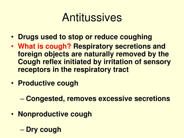 Antitussives