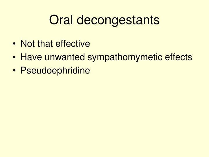 Oral decongestants
