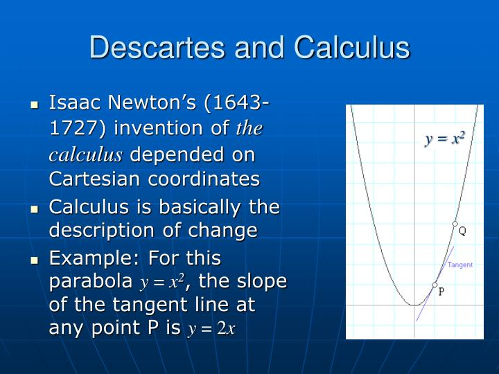 Descartes and Calculus