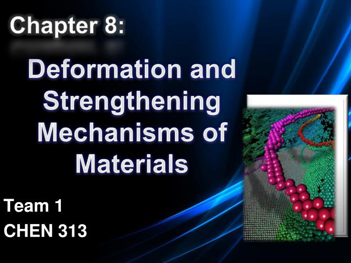 deformation and strengthening mechanisms of materials n.