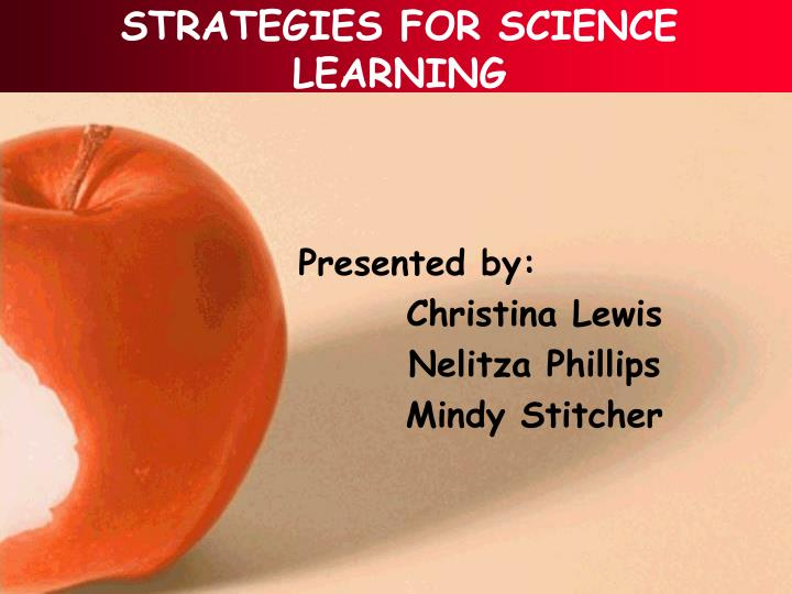 strategies for science learning n.