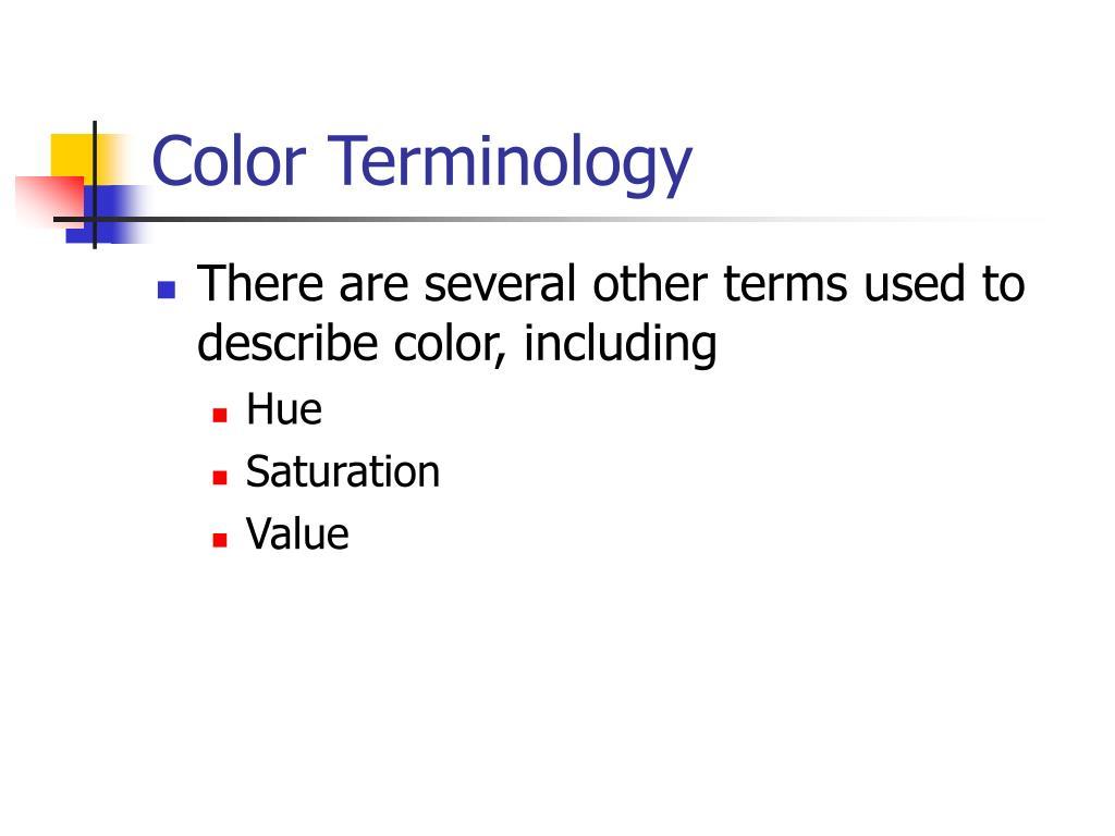 Color Terminology