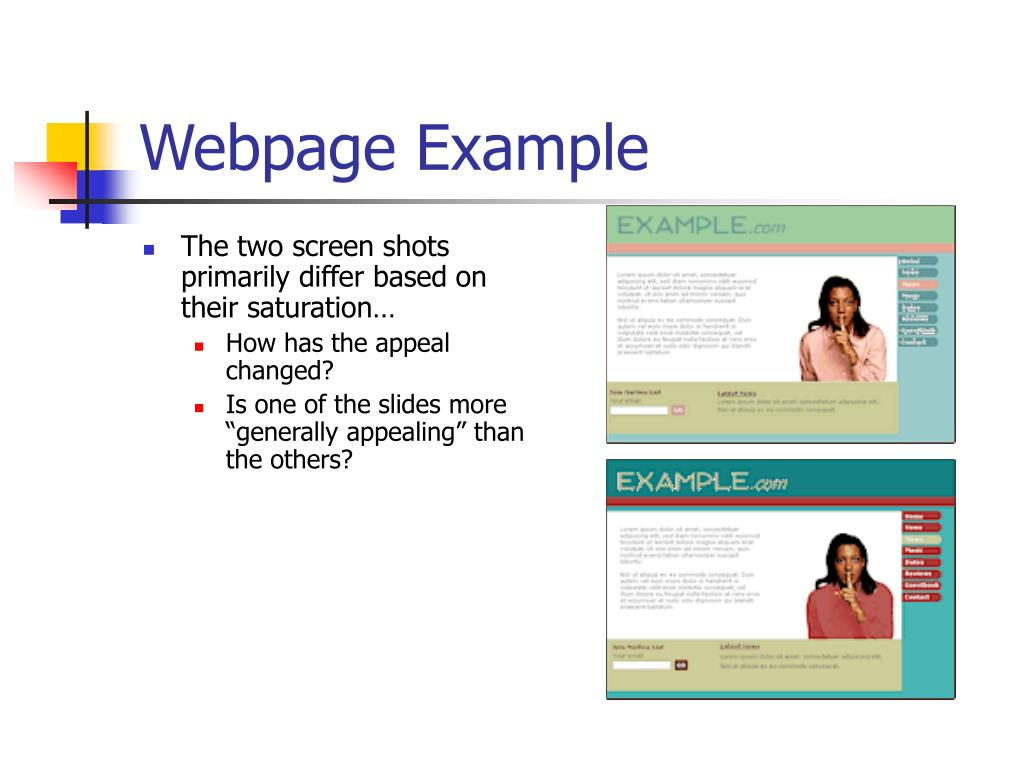 Webpage Example