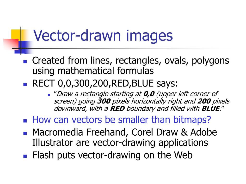 Vector-drawn images