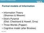 formal models of information