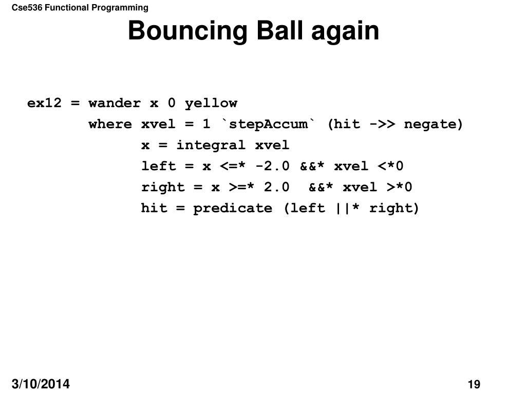 Bouncing Ball again